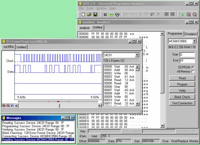 Universal Programmer Analyser-UPA Screenshot