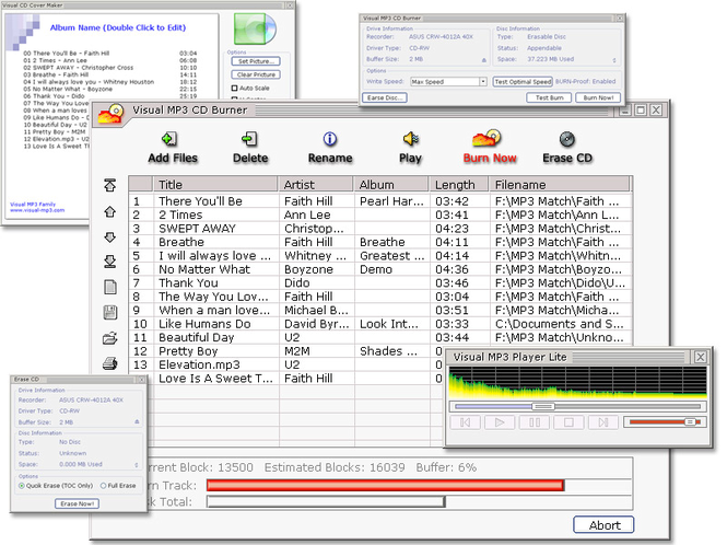 Visual MP3 CD Burner Screenshot 2