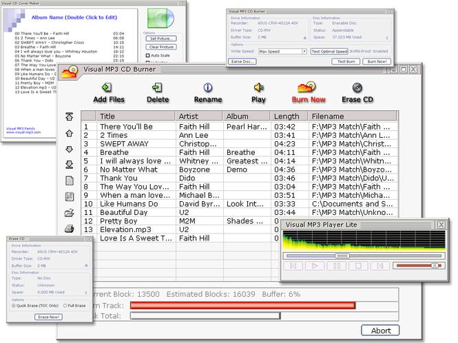Visual MP3 CD Burner Screenshot
