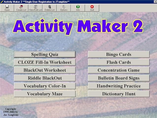 ActivityMaker 2 Screenshot