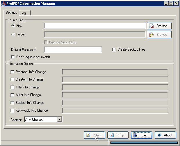 ProfPDF Information Manager Screenshot