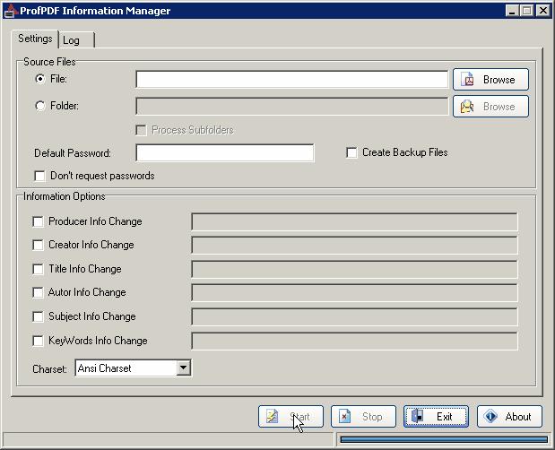 ProfPDF Information Manager Screenshot 1