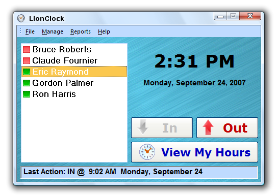 LionClock Screenshot