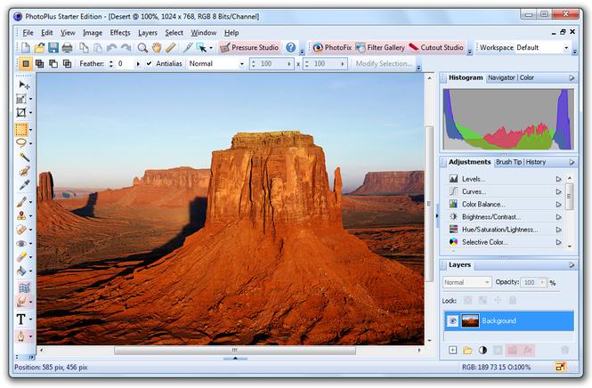 PhotoPlus Starter Edition Screenshot 1