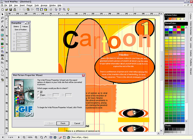 Serif WebPlus Screenshot