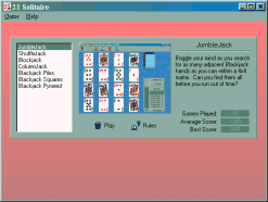21 Solitaire Screenshot