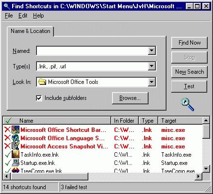Find Shortcuts Screenshot 1