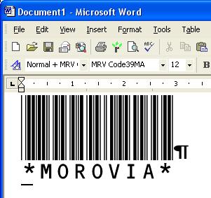 Morovia Code 39 Barcode Fontware Screenshot 2
