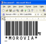 Morovia Code 39 Barcode Fontware 2