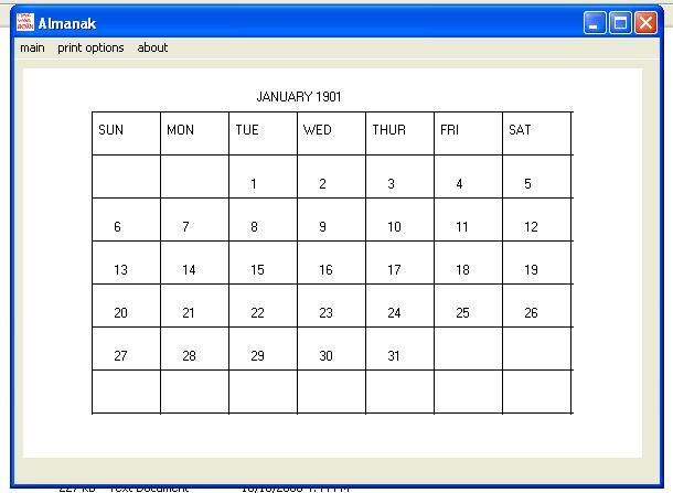 Almanak Screenshot