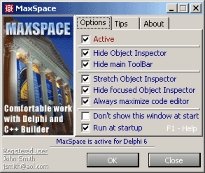MaxSpace - personal license Screenshot