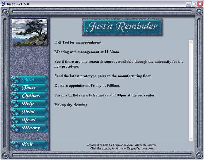 Just'a Reminder Screenshot 1