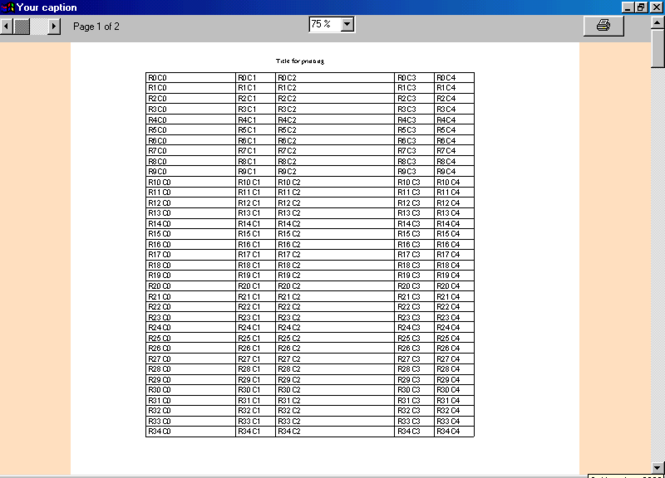 SCML MSFLEXGRID PRINTER Screenshot 1