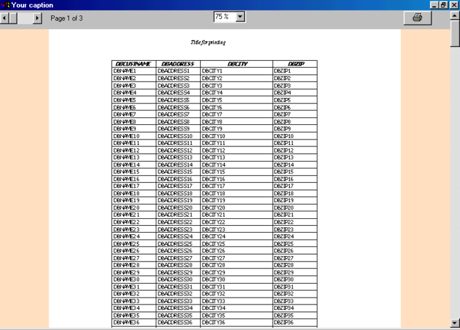 SCML DBGRID printer Screenshot 1
