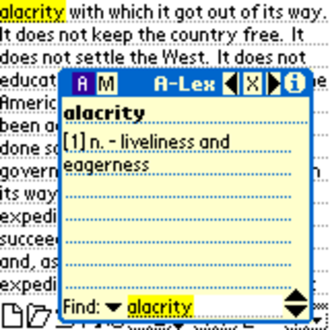 A-Lex Talking English Dictionary with Synonym Screenshot 1