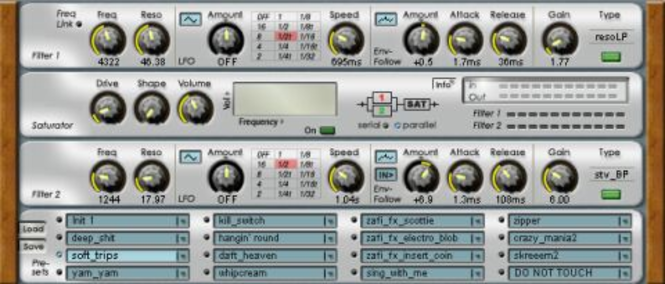 ZapFilter^2 - Dual Filter VST2.0 FX Plugin  v1.6 standard (PC) Screenshot 1