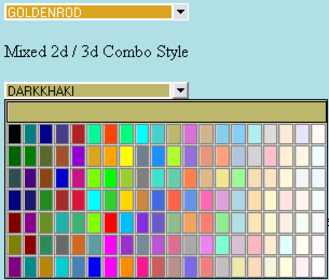 !JRHtmlColorSelector Activex Control Screenshot 1