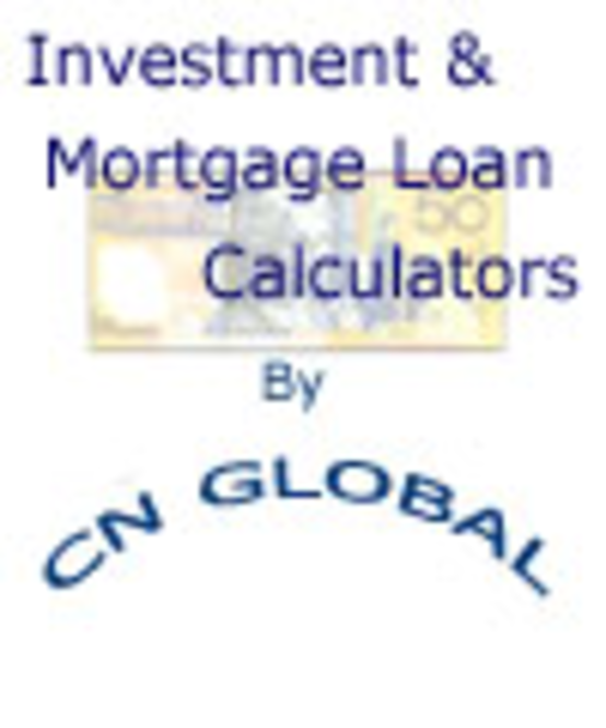 Investment and Mortgage Loan Calculator Screenshot