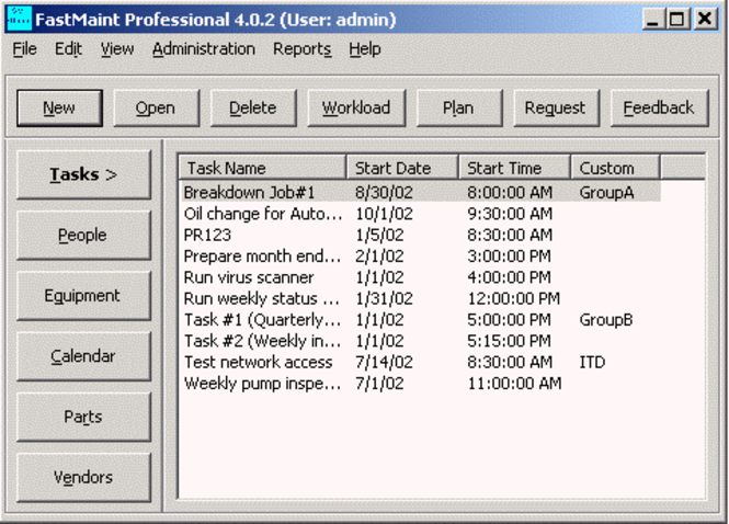 FastMaint CMMS - Standard (Single User,Download Only) Screenshot