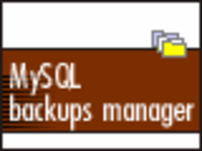 indexsoft MySQL backups manager Screenshot 1