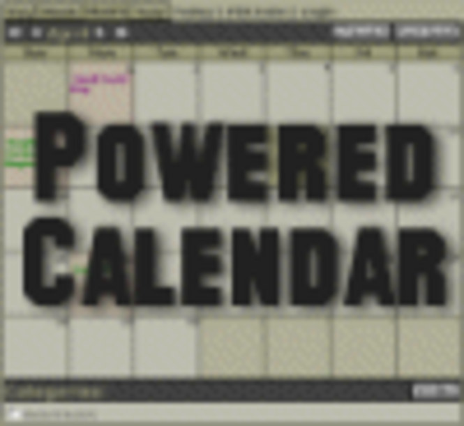Powered Calendar (Open Source-Single Domain License) Screenshot