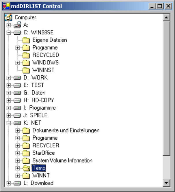 mdDIRLIST Screenshot 1