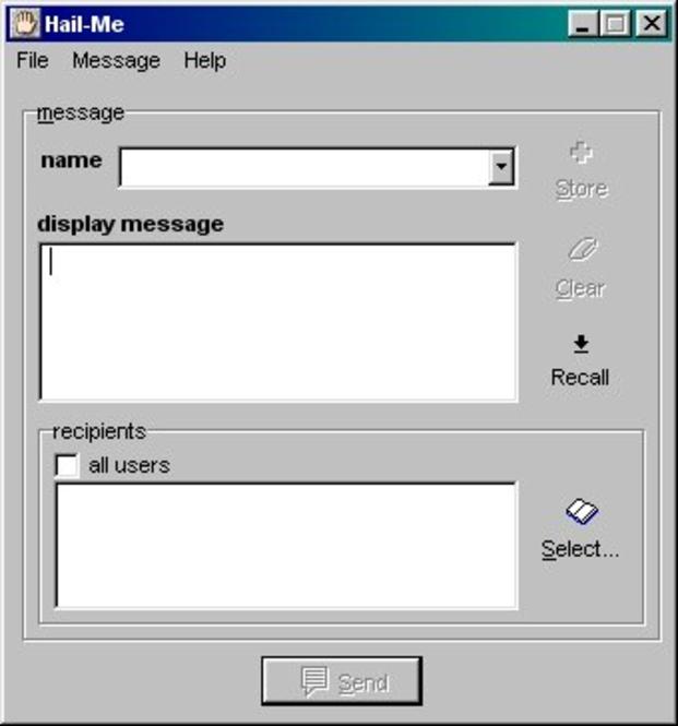 Hail Me for Windows NT Screenshot