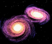 Colliding Galaxies - simulation of interacting galaxies 1