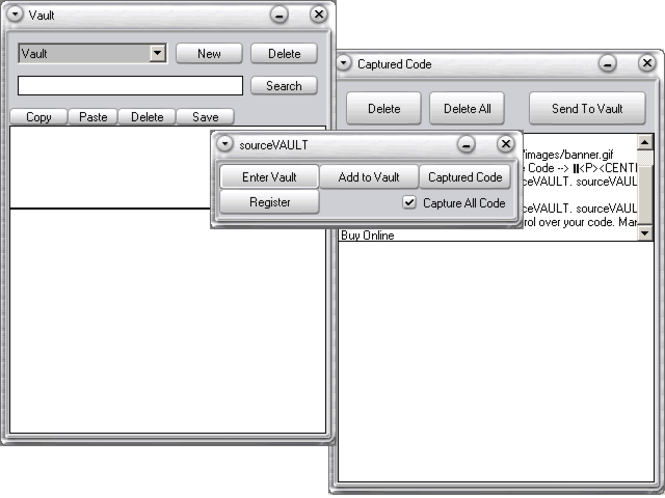 sourceVAULT Screenshot