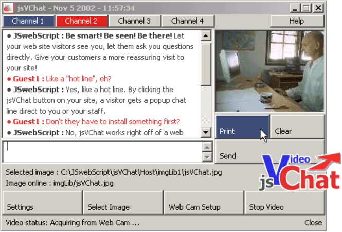 jsVChatASP Screenshot