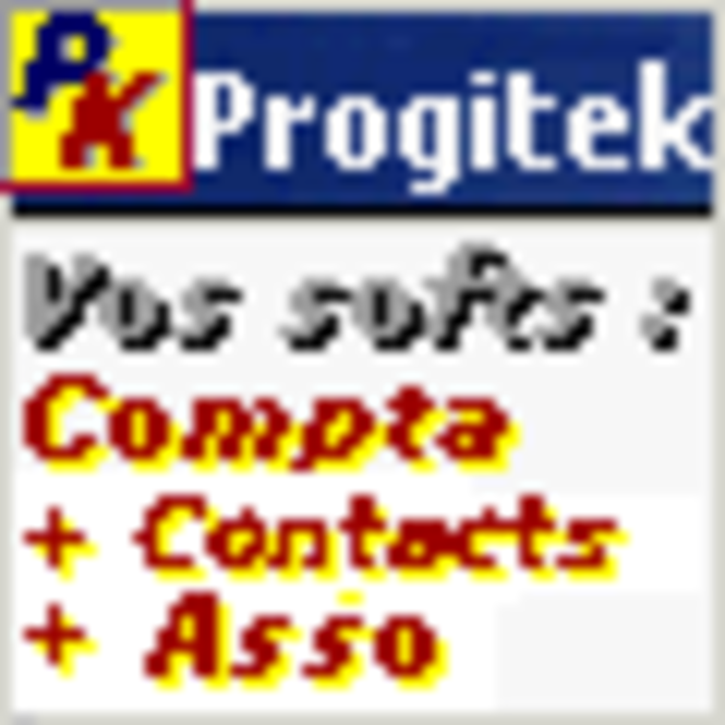 Progitek Comptabilité, Contacts, Adhérents et Immobilisations Screenshot