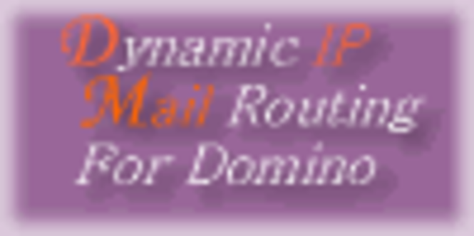 C. Dynamic IP Mail Routing For Domino 10-? licenses Screenshot