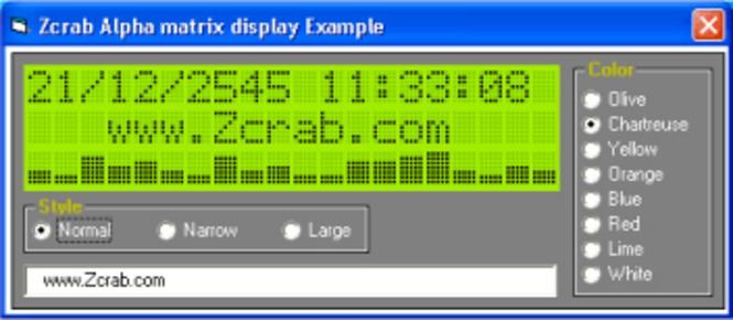 Alpha matrix display 1.02 Screenshot