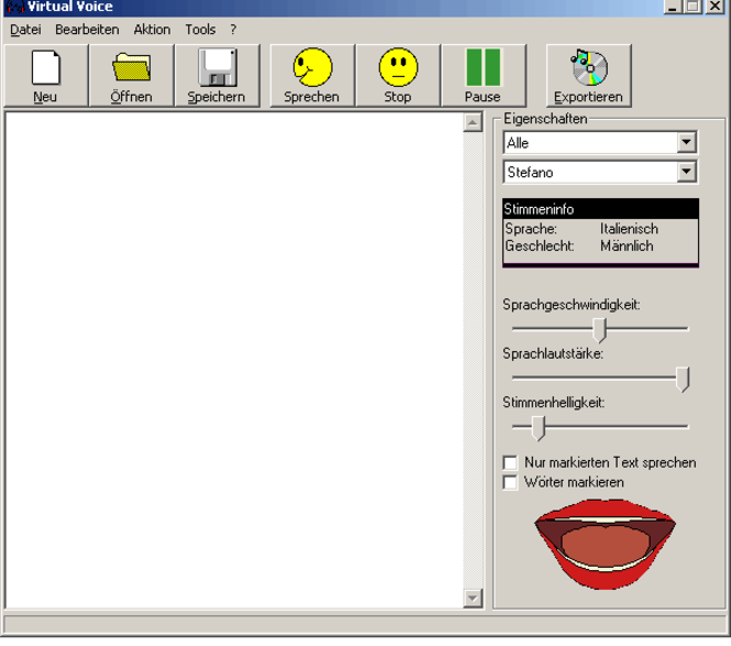 Virtual Voice Privatlizenz Screenshot