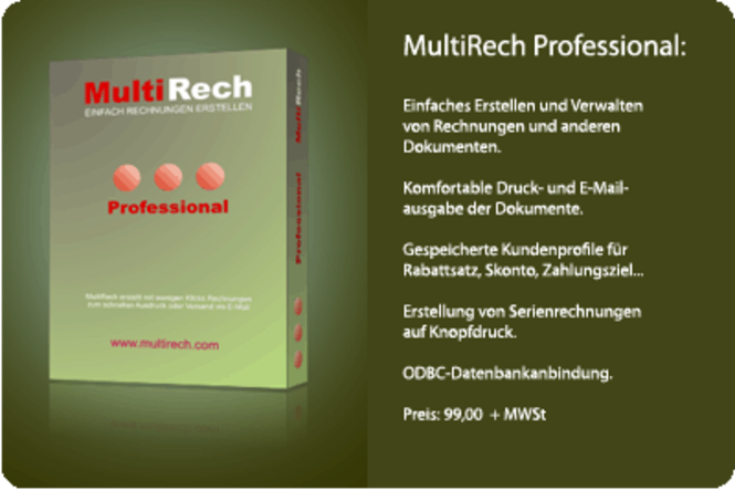 MultiRech Professional Screenshot 1