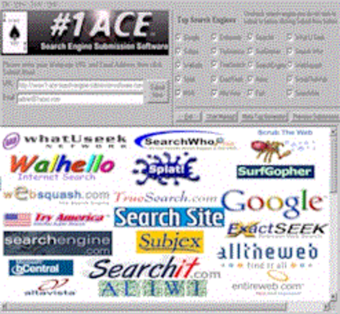 #1 ACE Search Engine Submission Software Screenshot