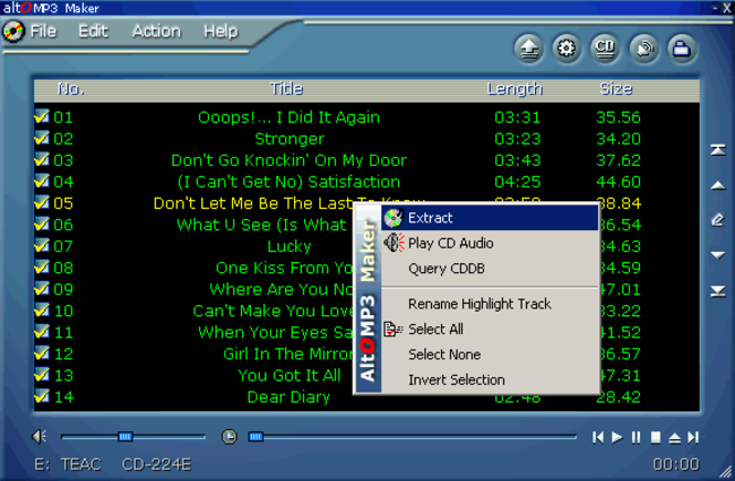 Alto MP3 CD Gold Screenshot