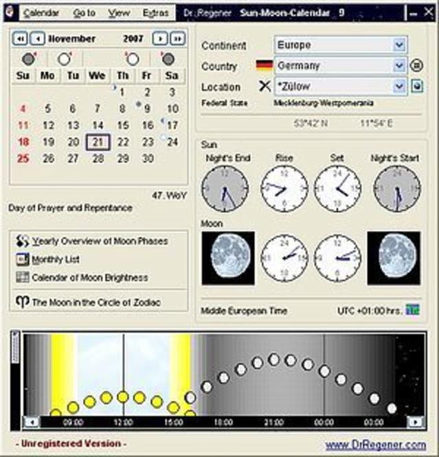 Dr. Regener Sun-Moon-Calendar Screenshot