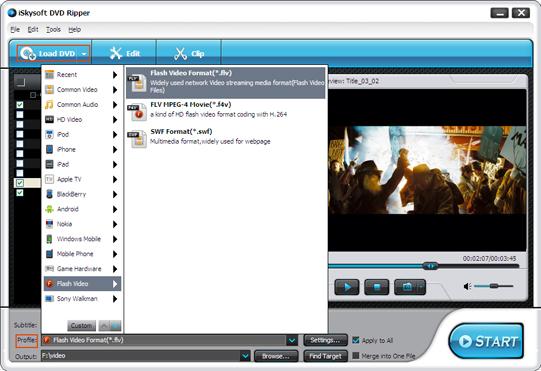 iSkysoft DVD Ripper Screenshot