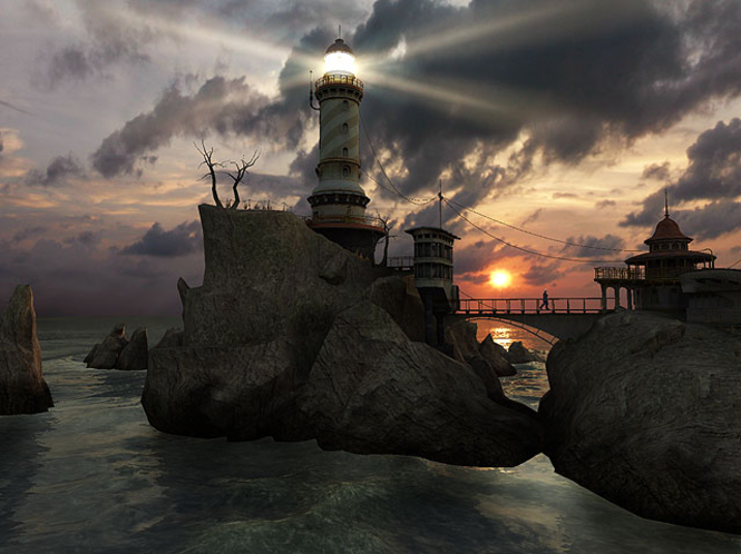 Lighthouse Point 3D Screensaver Screenshot 1