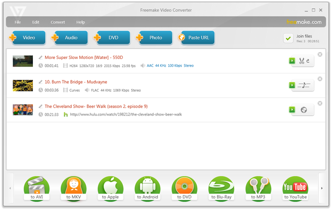 Freemake Video Converter Screenshot 1