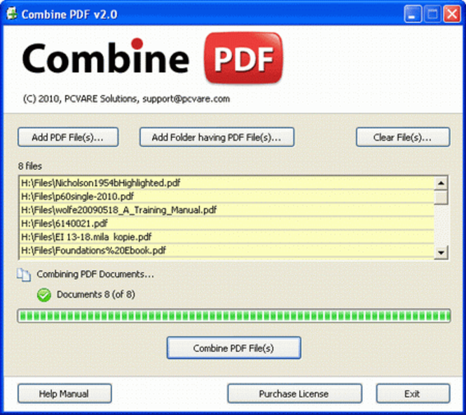 Merge PDF Files Screenshot