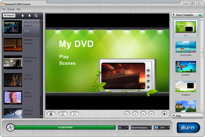 Daniusoft DVD Creator Screenshot