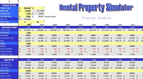 Rental Property Simulator Screenshot