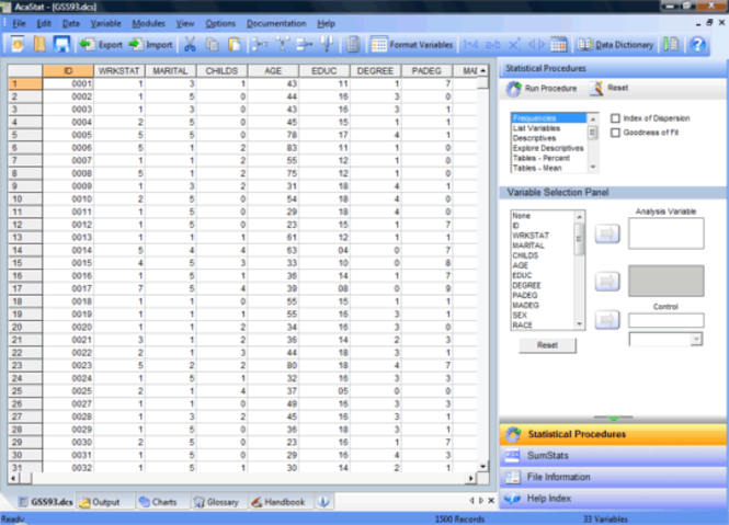 AcaStat Screenshot 2