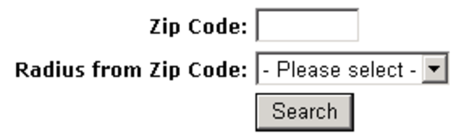 ZIP Code Radius Search module Screenshot 1