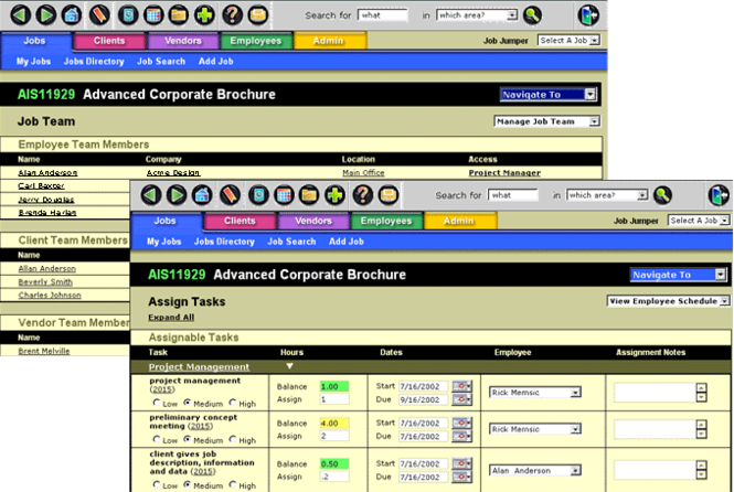 Infowit Project Management Software Screenshot