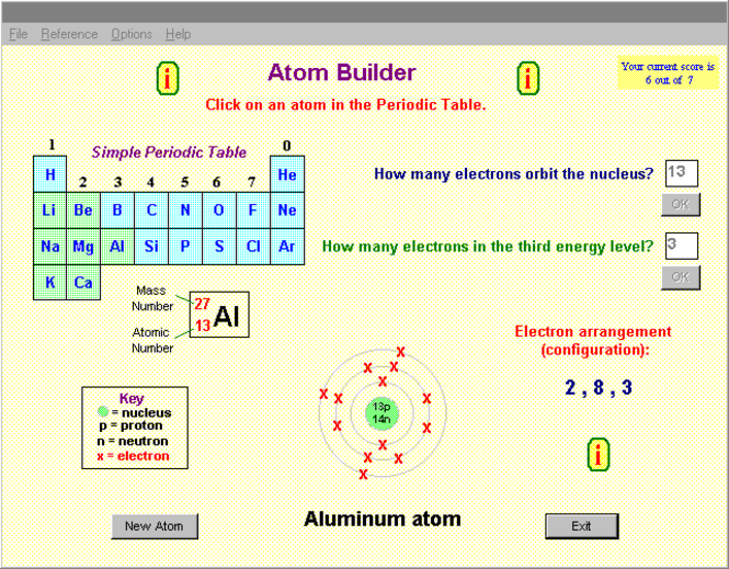 The Atom Builder Screenshot