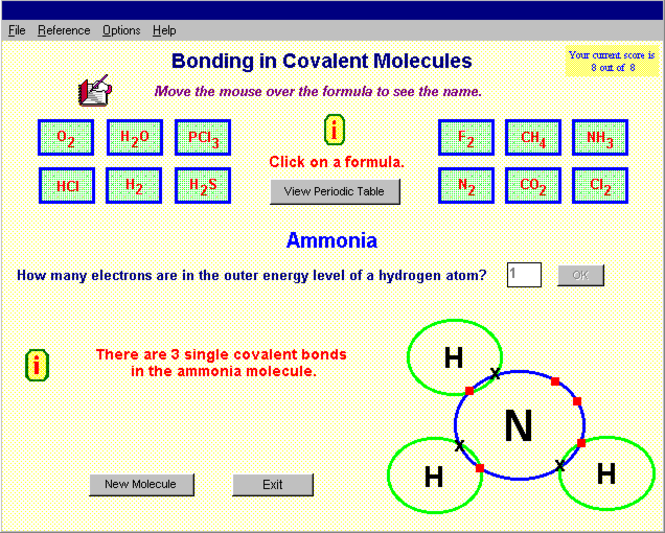 Covalent Bonding Screenshot