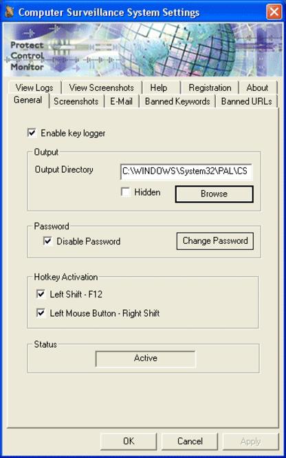 PAL  KeyLog Pro 2004 Screenshot